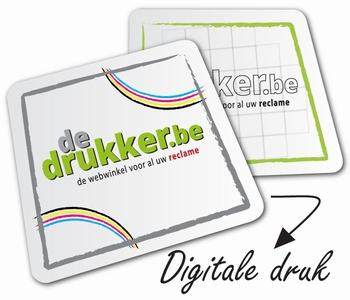 Bierkaartjes vierkant (93mm) digitaal Recto/verso