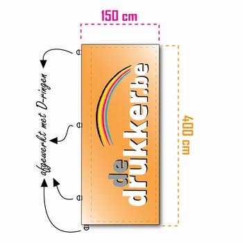Mastvlag STANDAARD 150x400cm