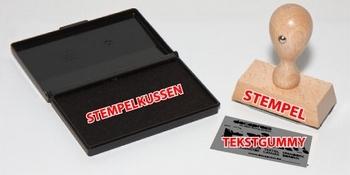 Houten stempel rechthoek (8x35mm)