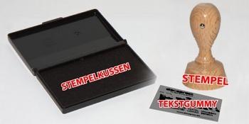 Houten stempel rond (50x50mm)