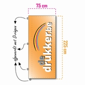 Mastvlag STANDAARD 75x225cm