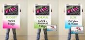 Stoepbord posters per set van 2 stuks